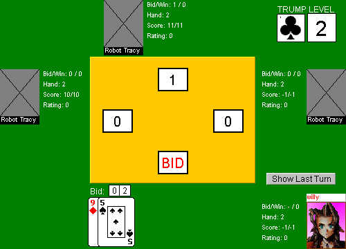 German Bridge Table Layout